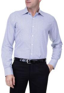 Camisa Social Masculina Upper Azul Marinho