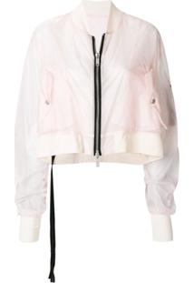 Unravel Project Jaqueta Bomber Cropped - Rosa