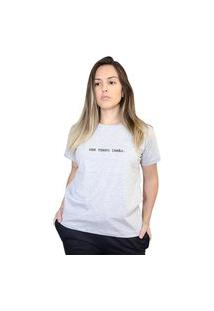 Camiseta Boutique Judith Sem Tempo Irmão Cinza