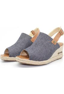 Sandalia Barth Shoes Perola Jeans Azul
