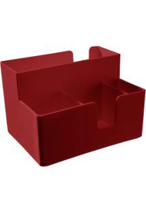 Porta-Guardanapo E Sachês Casual 14,1 X 10,6 X 9,4 Cm Vermelho Bold Coza