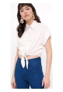 9f02ed750 Camisa Cropped Linho feminina