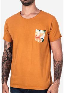 Camiseta Mostarda Bolso Floral 102488