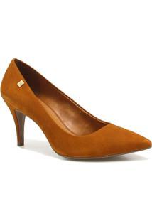 Sapato Loucos E Santos Scarpin Metal - Feminino-Caramelo