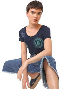Camiseta Desigual Sonja Azul-Marinho