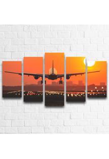 Quadro Decorativo Avião Decolando