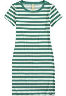 Vestido Malha Canelado Sevilha Verde