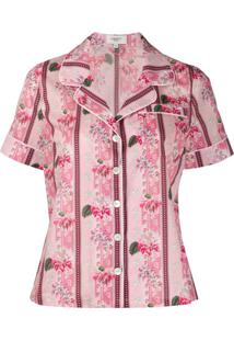 Liberty London Pijama Marlene Mangas Curtas - Rosa