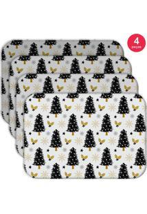Jogo Americano Love Decor Wevans Pinheiro Kit Com 4 Pçs