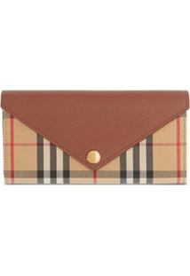 Burberry Carteira Vintage Check - Tan