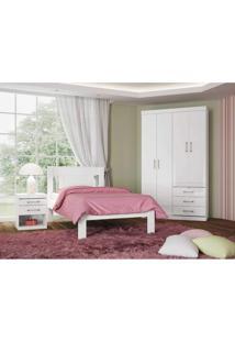 Dormitório Solteiro Plus Branco/Fúcsia Santos Andirá