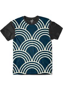 Camiseta Long Beach Náutica Arcos Sublimada Masculina - Masculino-Azul Royal+Preto
