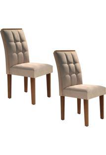Conjunto Com 2 Cadeiras Dakota Chocolate E Pena