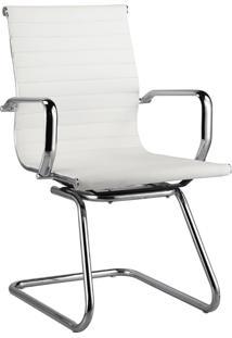 Cadeira Fixa Baixa Oficce Pu Sevilha -Rivatti - Branco