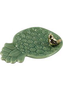 Bandeja Decorativa Abacaxi- Verde & Dourada- 4X15,5Xfull Fit