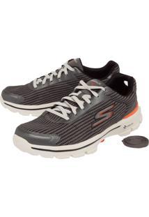 Tênis Skechers Go Walk 3 Fit Knit Cinza