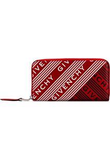 Givenchy Carteira Com Estampa De Logo - Vermelho