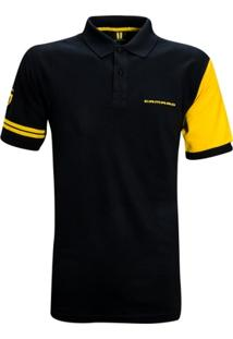Camisa Liga Retrô Premium Camaro Polo Patch - Masculino