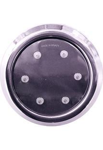 Refletor Hiper Super Led Inox Rgb 96Mm 18W Liso Iluminação Piscina Alvenaria