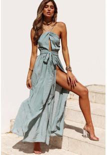 b7835b46c6 Style.Me. Vestido Longo Decotado C Fenda
