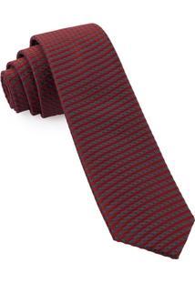 Gravata Slim Jacquard Red - Spc93