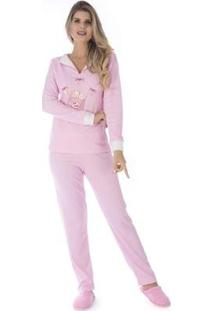 Pijama Inverno Charme Victory Feminino - Feminino-Rosa