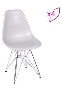 Or Design Jogo De Cadeiras Eames Dkr Fendi & Prateado 4Pã§S