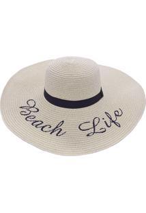 64822aefe5 ... Chapéu De Praia Bali Beach Com Beach Life Branco