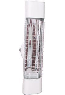 Luminária Mini Elite 47Cm Com Aletas E-27 2 Lâmpada Eletrônica Branca