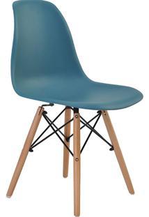 Cadeira Sem Braço Pp Base De Madeira Eiffel -Rivatti - Verde