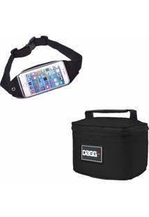Kit Bolsa Fitness Dagg + Pochete Running Esportiva Porta Dollar - Unissex