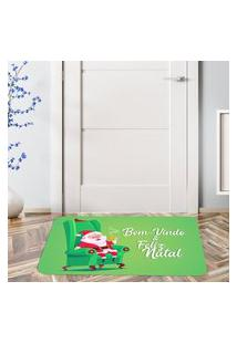 Tapete De Natal Para Porta Bem Vindo & Feliz Natal Único