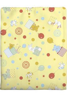 Cobertor Incomfral Cobertor Cachorrinho Para Bebê 70 X 90Cm Amarelo