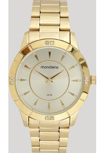 Relógio Analógico Mondaine Feminino - 99112Lpmvde1 Dourado - Único