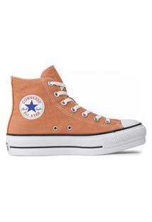 Tênis Converse Chuck Taylor All Star Seasonal Lift Hi Laranja Argila Ct12000033.36