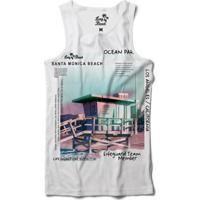 Camiseta Regata Long Beach Coleção Praias Santa Monica Ocean Park Sublimada  Masculina - Masculino-Preto f5b0a6eb55a