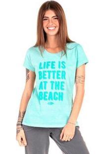 Camiseta Mormaii Babylook At The Beach Feminina - Feminino-Verde
