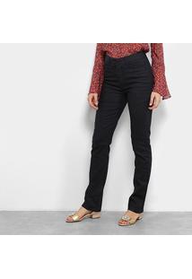 Calça Jeans Flare Maria Filó Lavagem Escura Cintura Média Feminina - Feminino