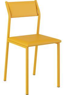Kit 2 Cadeiras 1709 Napa Móveis Carraro Amarelo