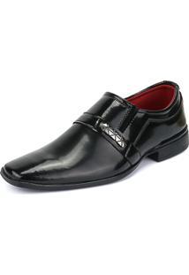 Sapato Social Rebento Verniz Preto