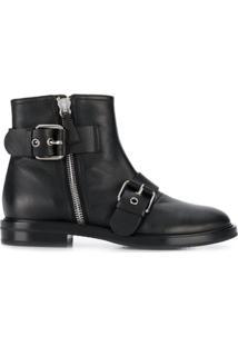Casadei Ankle Boot Com Zíper - Preto