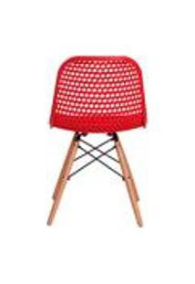 Cadeira Colmeia Eloisa Vermelha Sala Cozinha Jantar