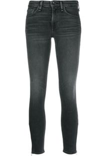 Rag & Bone Calça Jeans Skinny Cropped - Cinza