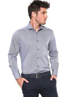 Camisa Aramis Reta Padronagem Branca/Preta
