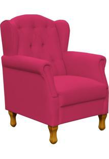 Poltrona Decorativa Para Sala De Estar Lyam Decor Yara Suede Pink