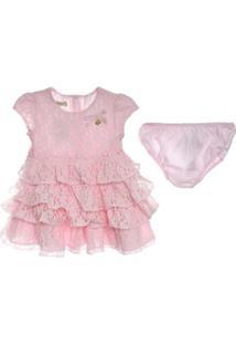 Vestido E Calcinha - Feminino-Rosa