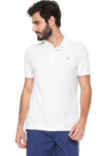 Camisa Polo Banana Republic Standard Fit Básica Off-White