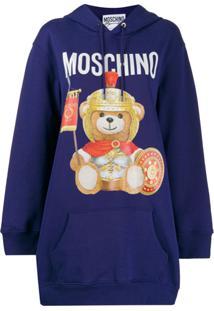 Moschino Blusa De Moletom Com Estampa De Logo - Roxo