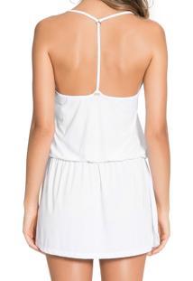 Vestido Live Strappy Refresh Tropicalia Branco P