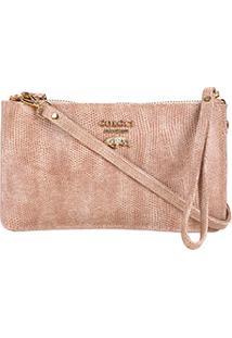 Bolsa Couro Colcci Mini Bag Snake Placa Bird Feminina - Feminino-Bege